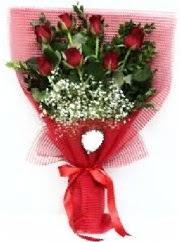 7 adet kırmızı gülden buket tanzimi  Bursa ucuz çiçek gönder
