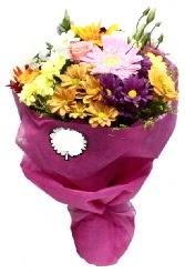 1 demet karışık görsel buket  Bursa internetten çiçek satışı