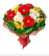 1 demet karışık buket  Bursa çiçekçiler