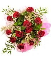 12 adet kırmızı gül buketi  Bursa çiçek siparişi sitesi