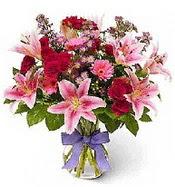 Vazo içerisinde karışık mevsim çiçeği  Bursa çiçek gönderme sitemiz güvenlidir