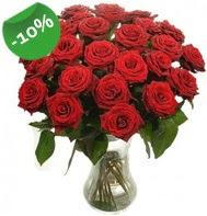 Vazo içerisinde 25 adet kırmızı gül  Bursa ucuz çiçek gönder