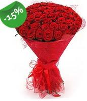 51 adet kırmızı gül buketi özel hissedenlere  Bursa çiçek gönderme sitemiz güvenlidir