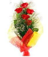 5 li kırmızı gül buketi  Bursa çiçek yolla