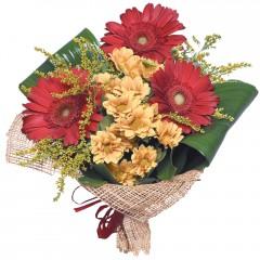 karışık mevsim buketi  Bursa İnternetten çiçek siparişi