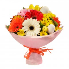 Karışık mevsim buketi Mevsimsel çiçek  Bursa çiçekçi telefonları