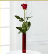 Vazo içerisinde 1 adet kırmızı gül  Bursa çiçekçi telefonları