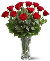 11 adet kırmızı gül vazoda  Bursa çiçekçi telefonları