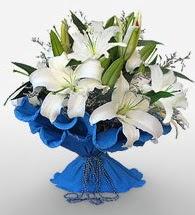 4 dal kazablanka çiçeğinden buket  Bursa ucuz çiçek gönder