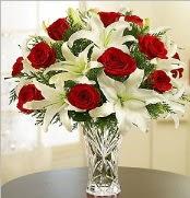 12 adet kırmızı gül 2 dal kazablanka vazosu  Bursa güvenli kaliteli hızlı çiçek
