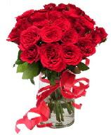 21 adet vazo içerisinde kırmızı gül  Bursa güvenli kaliteli hızlı çiçek