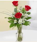 Vazo içerisinde 3 adet kırmızı gül  Bursa güvenli kaliteli hızlı çiçek