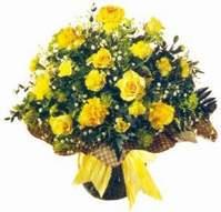 Bursa yurtiçi ve yurtdışı çiçek siparişi  Sari gül karanfil ve kir çiçekleri