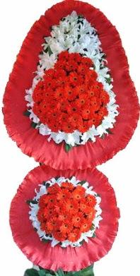 Bursa çiçek , çiçekçi , çiçekçilik  Çift katlı kaliteli düğün açılış sepeti
