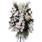 Bursa ucuz çiçek gönder  Ferforje beyaz renkli kazablanka