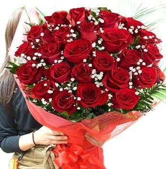Kız isteme çiçeği buketi 33 adet kırmızı gül  Bursa çiçek online çiçek siparişi