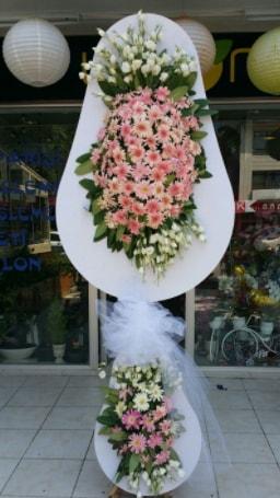 Çift katlı özel şahane sepet çiçeği  Bursa kaliteli taze ve ucuz çiçekler