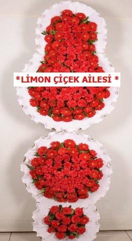 3 katlı kırmızı düğün açılış çiçeği  Bursa çiçek mağazası , çiçekçi adresleri