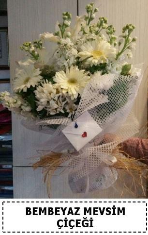 Bembeyaz görsel mevsim çiçek buketi  Bursa çiçek servisi , çiçekçi adresleri