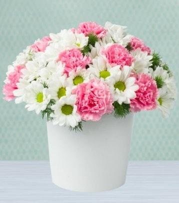 Seramik vazoda papatya ve kır çiçekleri  Bursa çiçek gönderme sitemiz güvenlidir