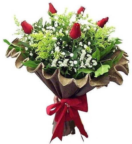 5 adet gülden buket  Bursa çiçek online çiçek siparişi