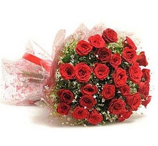 27 Adet kırmızı gül buketi  Bursa online çiçekçi , çiçek siparişi