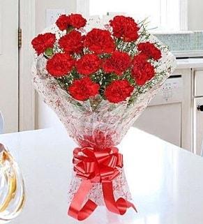 12 adet kırmızı karanfil buketi  Bursa hediye sevgilime hediye çiçek