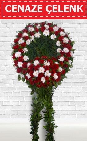 Kırmızı Beyaz Çelenk Cenaze çiçeği  Bursa hediye sevgilime hediye çiçek