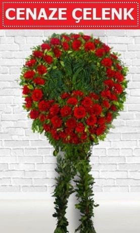 Kırmızı Çelenk Cenaze çiçeği  Bursa hediye sevgilime hediye çiçek