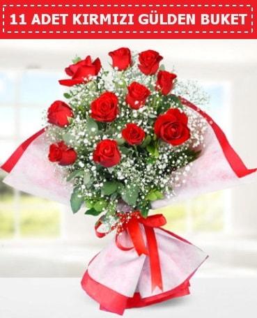 11 Adet Kırmızı Gül Buketi  Bursa çiçekçi telefonları