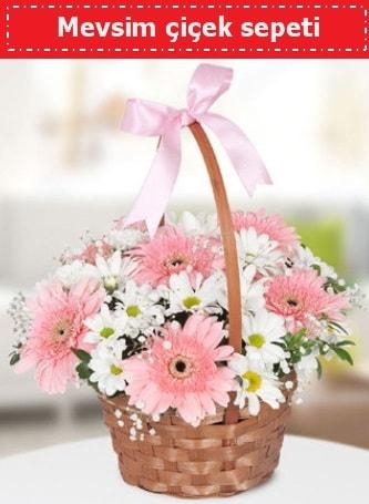 Mevsim kır çiçek sepeti  Bursa yurtiçi ve yurtdışı çiçek siparişi