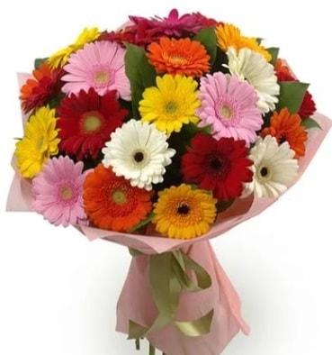 Karışık büyük boy gerbera çiçek buketi  Bursa güvenli kaliteli hızlı çiçek