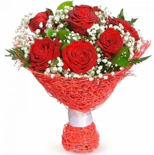7 adet kırmızı gül buketi  Bursa çiçek gönderme